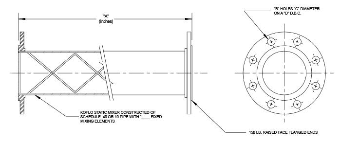 Custom Stainless Steel Static Mixer - Metal Static Mixer | Koflo